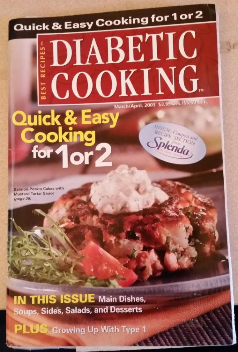 Diabetic Cooking Quick & Easy Cooking for 1 or 2
